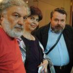 А.Зарипов (слева), В. Чайковская, Л. Табенкин