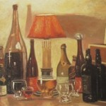 Пейзаж с бутылками