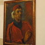 """Николай Никогосян """"Автопортрет в красном берете"""". К.х.м, 69х50, 2004"""