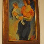 """Николай Никогосян """"Женщина с ребенком"""", К.х.м., 35х25, 2001"""