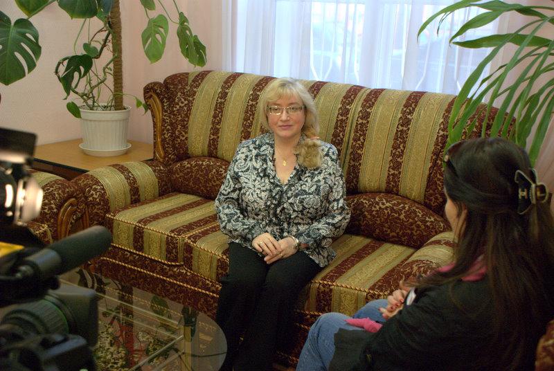 Елена Езерская на встрече с читателями 8 апреля 2009. Москва СВАО,Ростокино