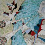 Г.Лиховид,(Россия, Волгодонск),Музыка для птиц, сталь,горячая эмаль. 65х45