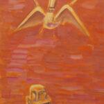 Зарипов А. Я видел птицу Сирин. 2011 г., 61х43.. б., гуашь.