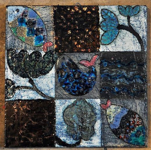 Наталия Бодрикова Цветы и рыбы, 2016 шамот,глазури,эмали, окислы