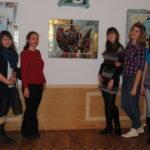 студенты Колледжа и работа Георгия Лиховида (Волгодонск) Два образа, горячая эмаль, 45х64,