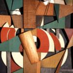 1. Клюн И.В. Пробегающий пейзаж. 1913. Дерево, металл, фарфор, проволока, масло. 78,4 x 62, Государственная Третьяковская Галерея