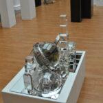 """скульптурные объекты Ольги Победовой (оптическое стекло). """"Иллюзия объекта"""", сталь, оптическое стекло"""