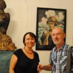 гости вернисажа: Инна Иванова ( художник) и Александр Шклярук (искусствовед)