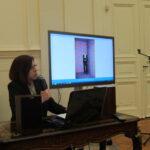 Ирина Захарченко докладывает о творчестве Франсуа Морелле