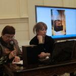Профессор Мария Майстровская докладывает о мультимедиа в экспозиционной практике