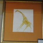 Белый жираф.автор Андрей Авдеев, медь, горячая ювелирная эмаль