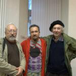Художники Александр Волков (слева), Валерий Волков(справа), Андрей Волков (в центре)
