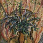 """Тамара Гусева """"Цветы на стуле"""", х/м, 1998"""