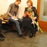 Ольга Победова дает интервью