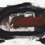 Antoni Tapies (1923- 2012 Barcelona,)Oval roig i 1987. Etching on cooper, 50x70 by the artist Antoni Tapies