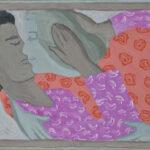 А. Каплан. Поцелуй. 60,5х40 см, бумага, темпера, courtesy Vellum gallery