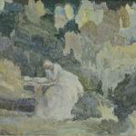 А. Коновалова. Письмо Татьяны. 1910-е, 35,5х48 см, бумага, акварель, courtesy Vellum gallery