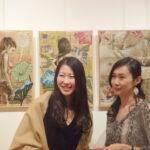 """Минако Ота (справа) """"Знак и тело"""" выставка Минако Ота в галерее Art-Constantis"""