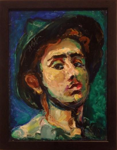Автопортрет. А. Кедрин, 1955